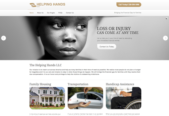 Helping Hands Financing   bridging the financial gap for families
